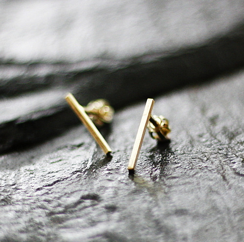 Graphic garden N°6 náušnice - zlato (Au 585/1000)