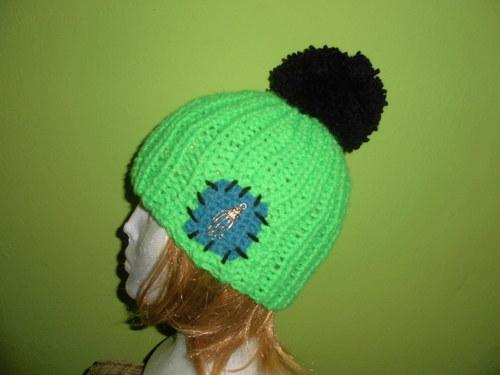 Kulich neonový zeleno-černý