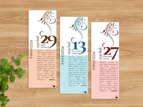 Narozeninová pozvánka - záložka do knihy (No.31b)