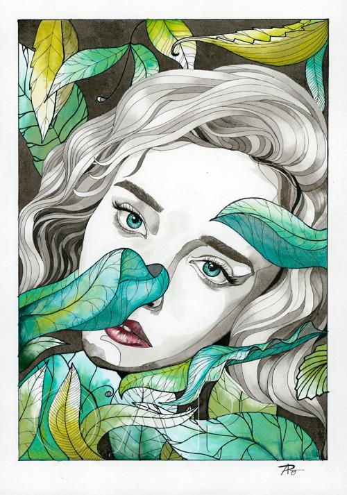Jungle - akvarel A3
