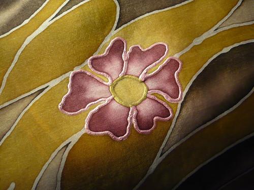 Květy podzimu - hedvábný šátek