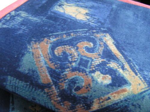 Obal na knihu - modrý s rezavou