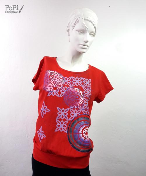 """Malované tričko \""""Abstrakce\"""""""