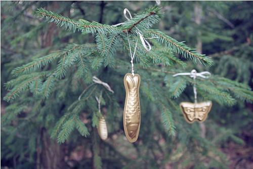 zlaté formičky - ozdoby na stromeček