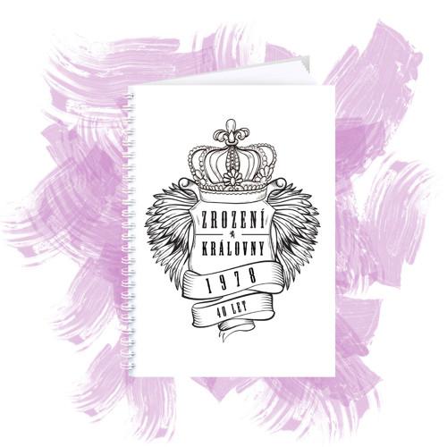 Zápisník s motivem - zrození královny 3