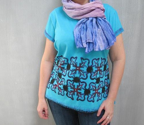 tričko tyrkysové  SLEVA