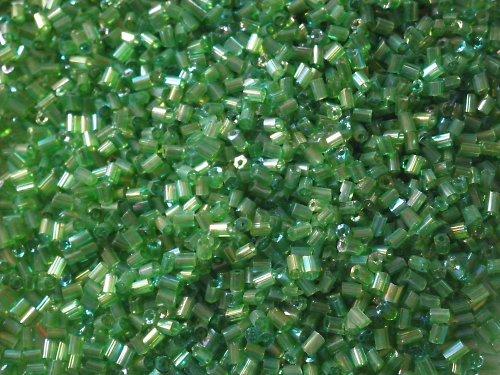 2 mm, zelený s odlesky, 10gr