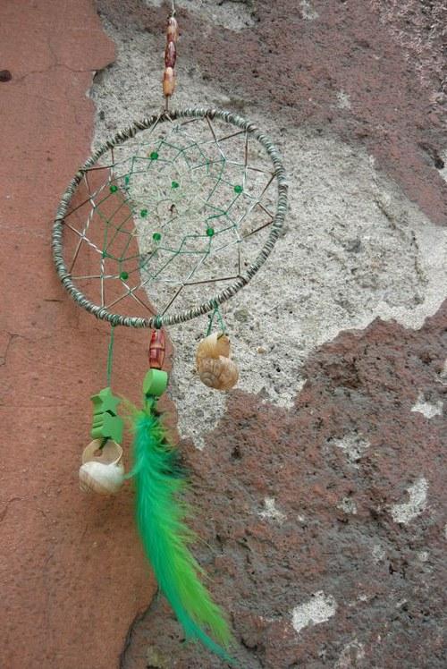 Indiánský lapač snů Zelený