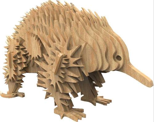 Dřevěná skládačka Ježura australská