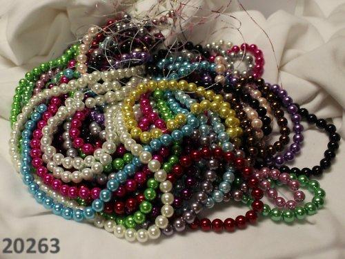 20263 Luxusní voskované perly 10mm, bal.80ks