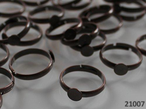 21007 Prsten základ MĚĎ s lůžkem 6mm,  á 1ks