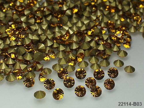 22114-B03 Kónické šaton kamínky 5mm ŽLUTÉ,bal.10ks
