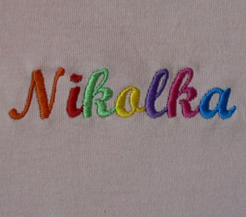 Dětské tričko KR+pestrobarevně jméno