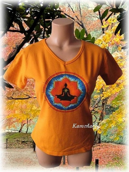 dámské tričko - mandala Meditace