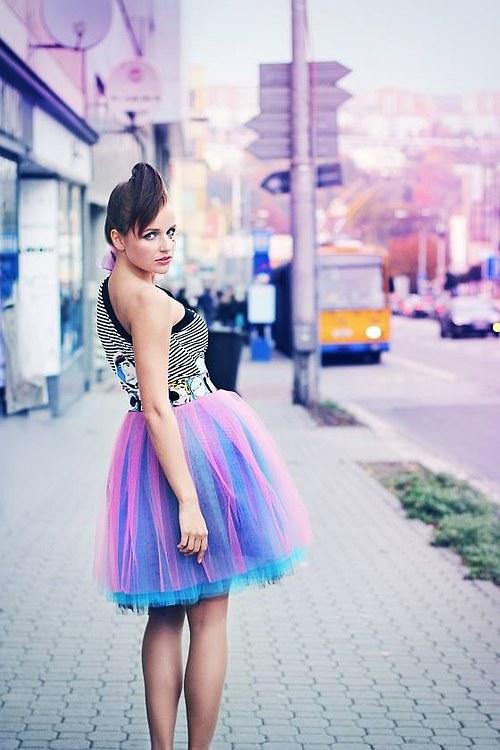 Tylová sukně 2v1