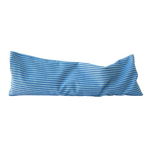 Nahřívací polštářek modrobílé pruhy
