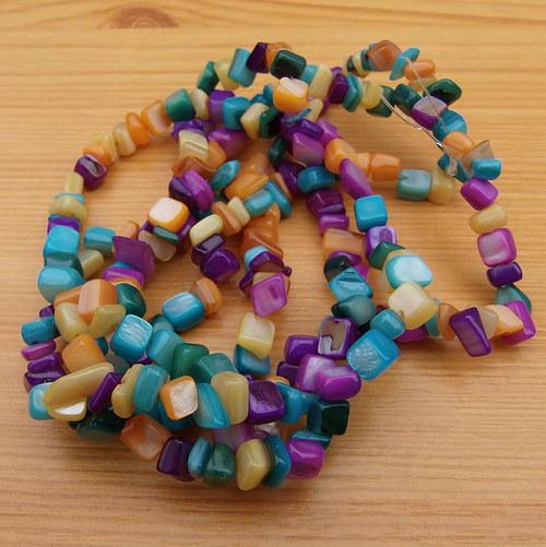 Perleťové zlomky - barevné - 10cm