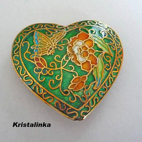 Srdce CLOISONNE 42 x 45 mm