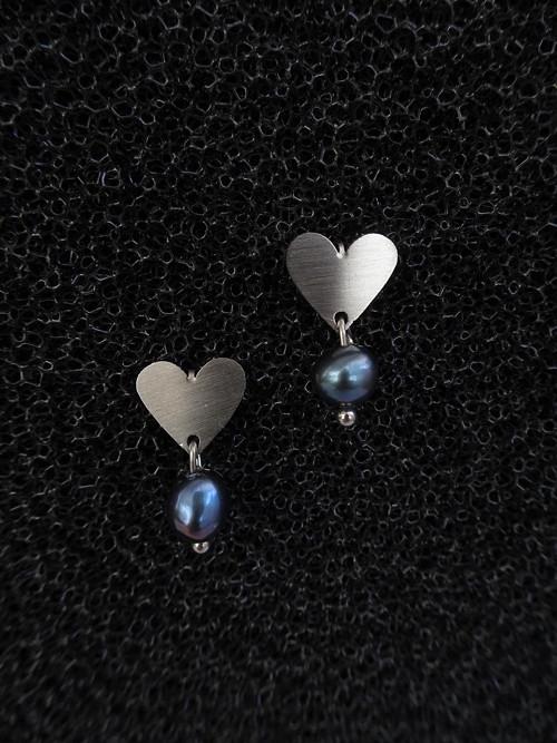 Srdce mini černá perla