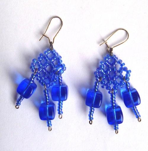 Modré náušnice