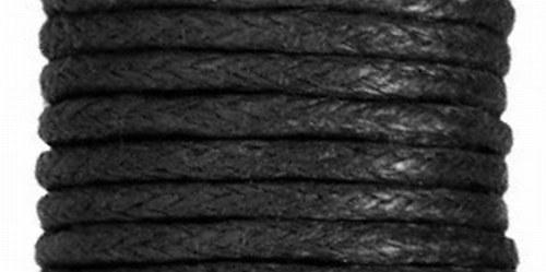 Voskovaný bavlněný  provázek 20m - Černá
