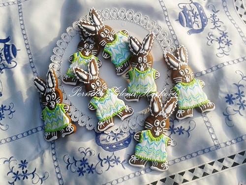 Velikonoční zajíc - zelený