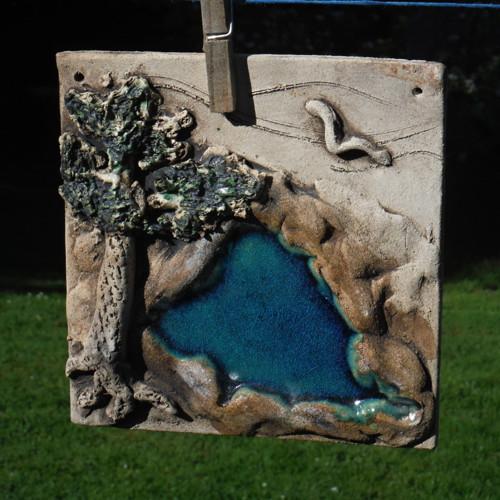 Kachel, plastický obrázek