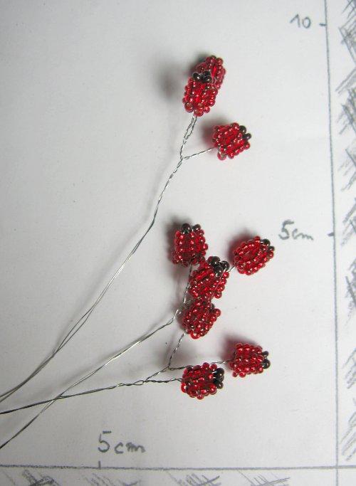 Šípky korálkové do kytice