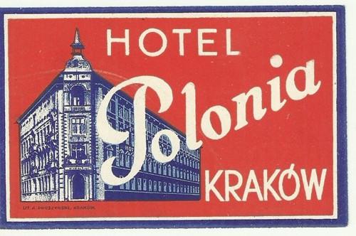 Hotelové nálepky Hotel Polonia Krakow