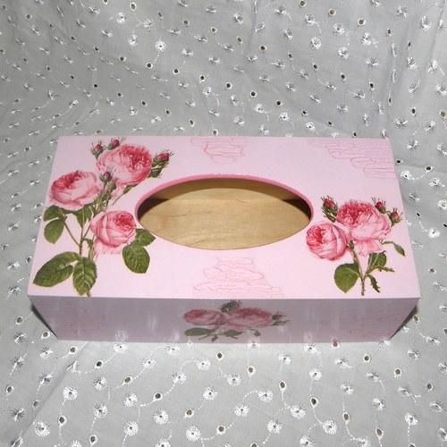 Krabička na kapesníky růžičková