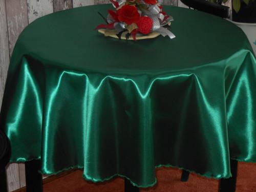 Kulatý ubrus- saténový zelený 150cm