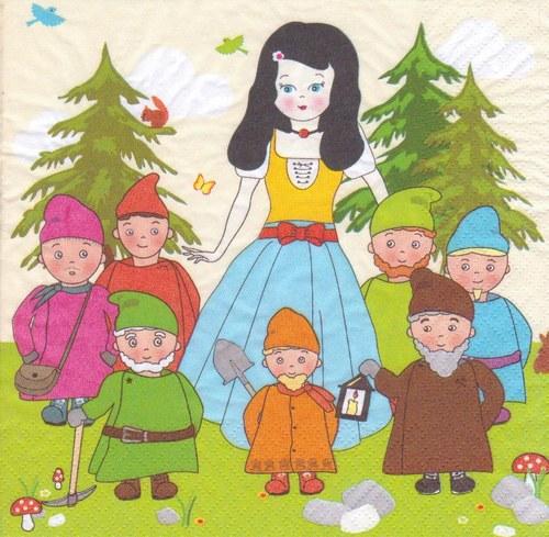 Ubrousek - Sněhurka a sedm trpaslíků (2 ks - AKCE)