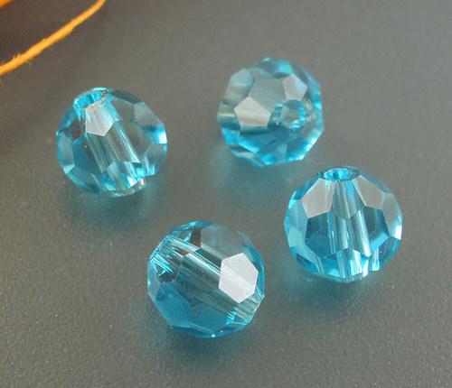 ohňovky  broušené / 6mm/ modré/ 6ks