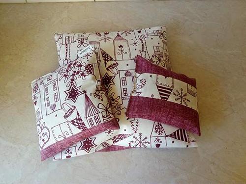 Sada vánoční-polštářek,područka+rychlonahříváček