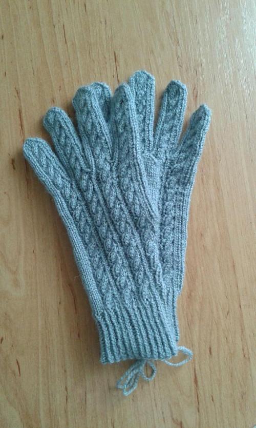 Ručně pletené rukavice