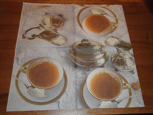 Ubrousek na decoupage - čajová souprava
