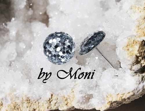 Náušnice ťupky - stříbrné tečky