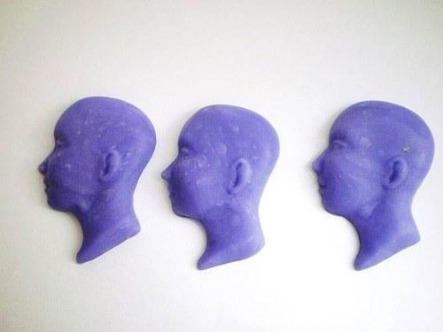 obličej - kabašon - profil - mramor