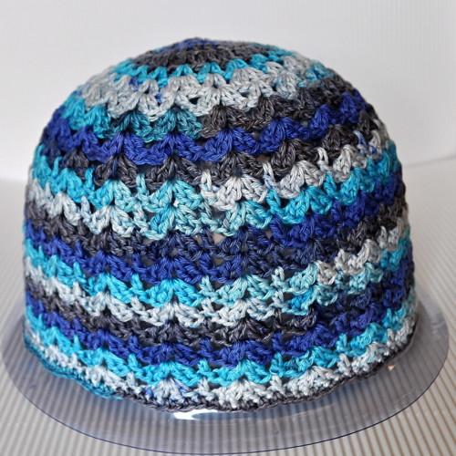 Modrásek - dospělácká čepice