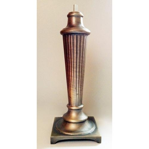 Tiffany lampa - noha (168), v. 26cm, staromosaz