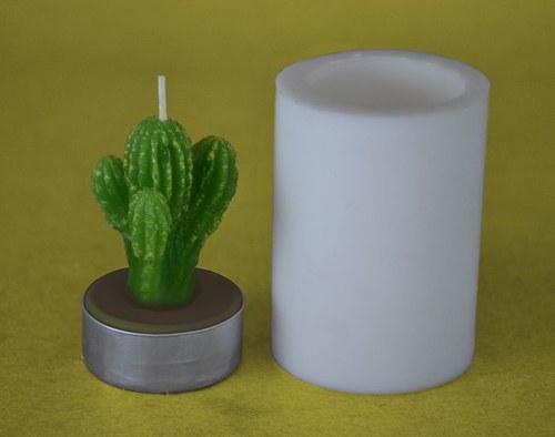 Silikonová forma na čaj. svíčku - Kaktus trojitý