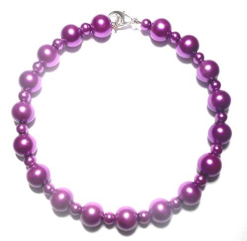 Perly - náramek fialový
