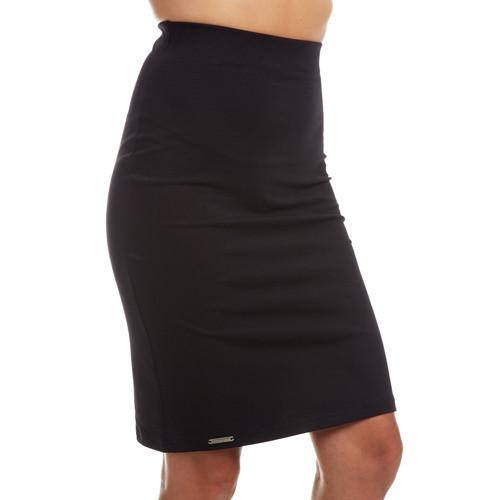 Pouzdrová sukně KARLA / černá bavlna