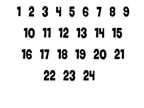 Panýlky na adventní kalendář 6