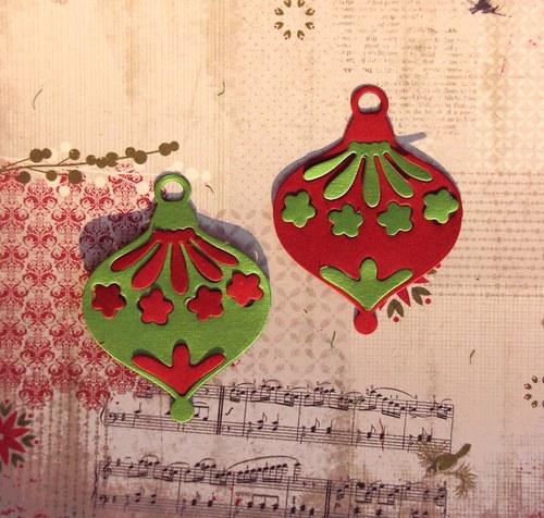 Vánoční baňky kombinované (střední) - 2 ks