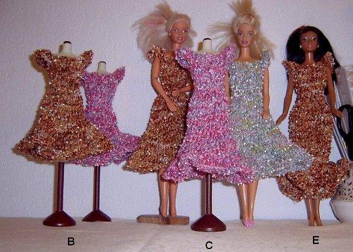Pletené společenské šaty - universální popis