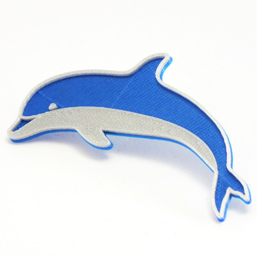 Delfín nobble blue/silver