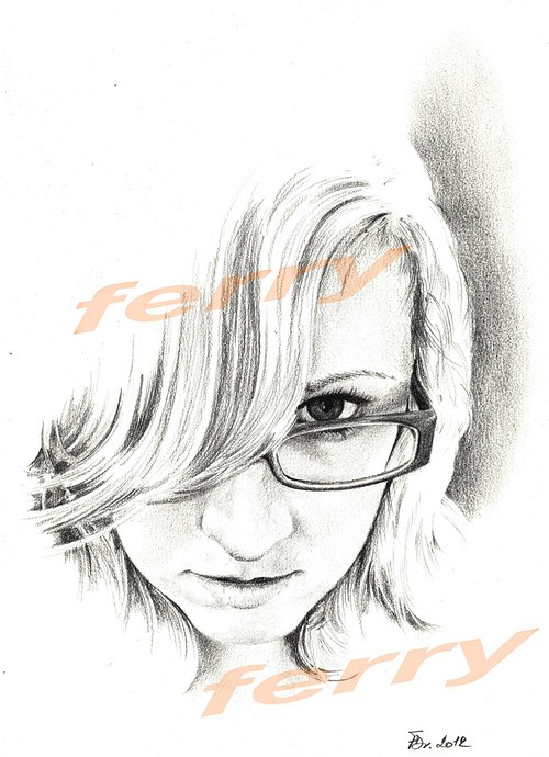 portrét neznámé