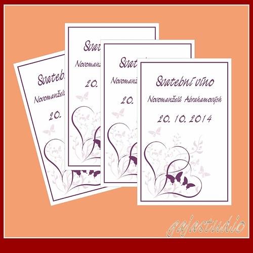 Etiketka na svatební víno NO_3