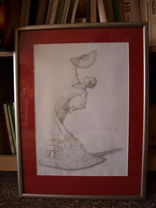 Tanečnice s vějířem